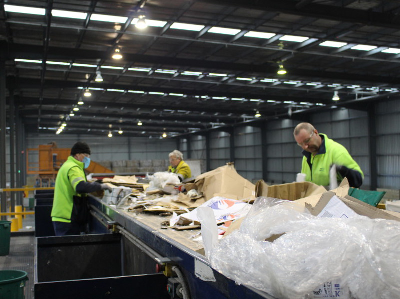 Transpacific Cleanaway materials recycling facility at Altona