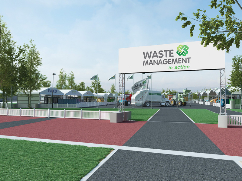 Waste Management In Action expo entrance