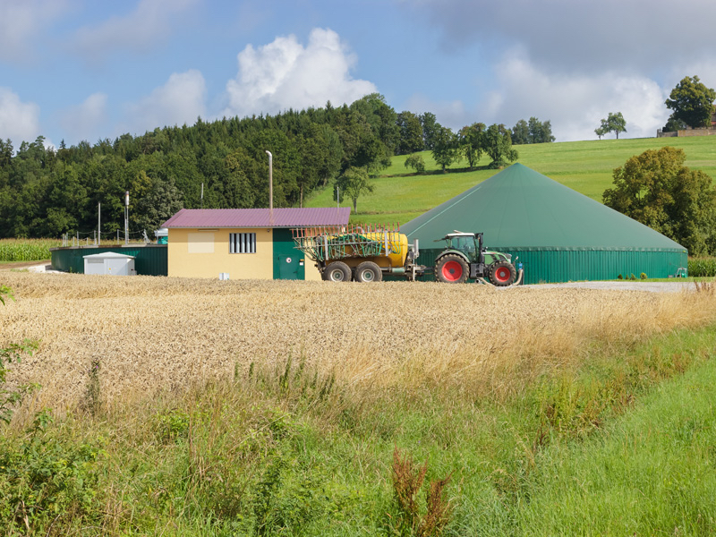 A small-scale biogas, organic waste to energy plant