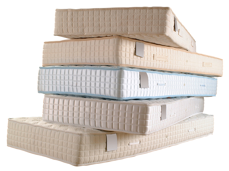 A pile of mattresses
