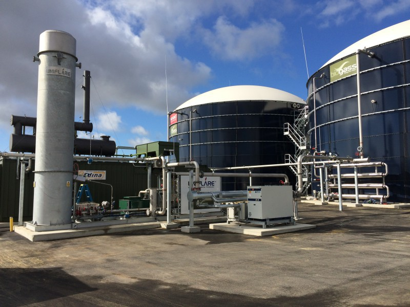 Richgro Bioenergy Plant gas management set-up including gas train, first generator, transformer and distribution infrastructure