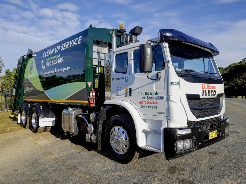A Iveco ACCO waste truck