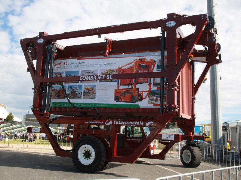 The new Combilift Straddle Carrier Container Tilter