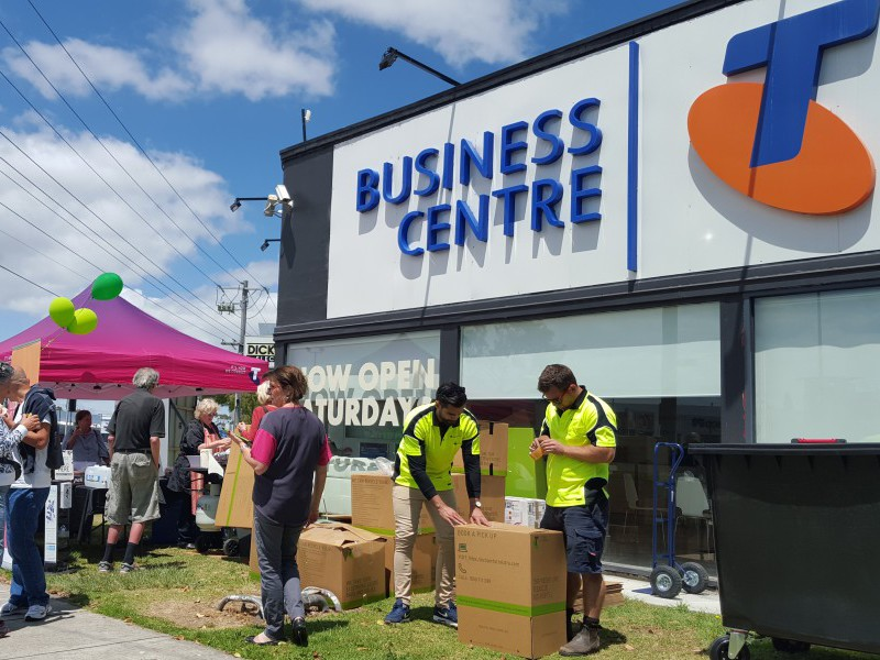 An eCycle event at a Telstra Business Centre