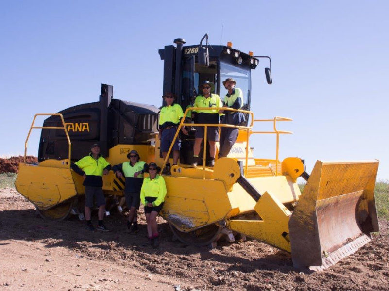 The Tana E series landfill compactor at Cooma