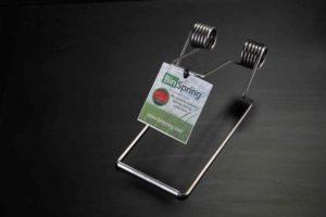 The BinSpring Premium stainless steel wheelie bin lid securer