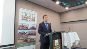 NSW Environment Minister at the AORA 2016 Awards Dinner