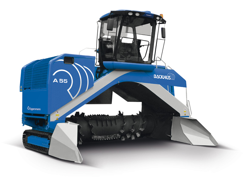 Backhus windrow turner from GCM Enviro
