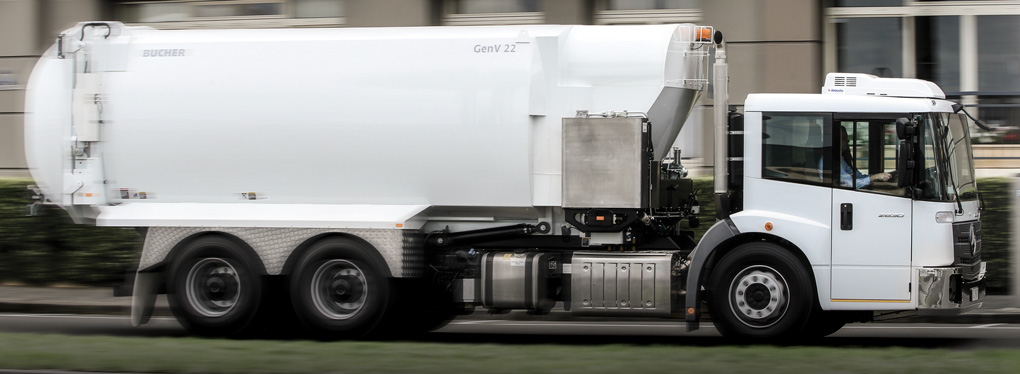 The Mercedes-Benz Dual Control Econic waste truck