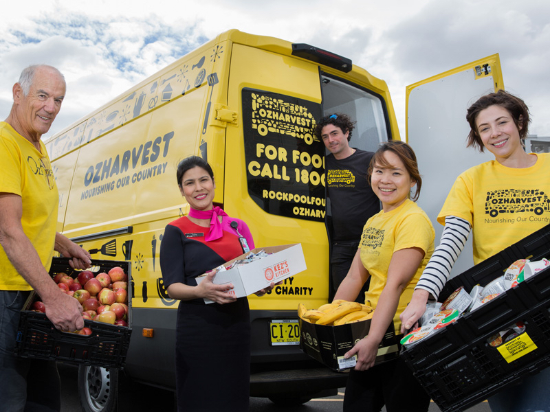 OzHarvest and Qantas Food ResQ food rescue program