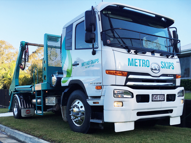 Metro Skips uses UD Trucks in its fleet