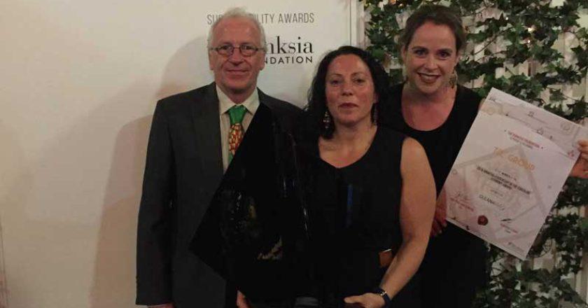 TIC Group representatives accept Banksia Award