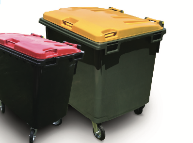 Trident Plastics' four-wheel bins