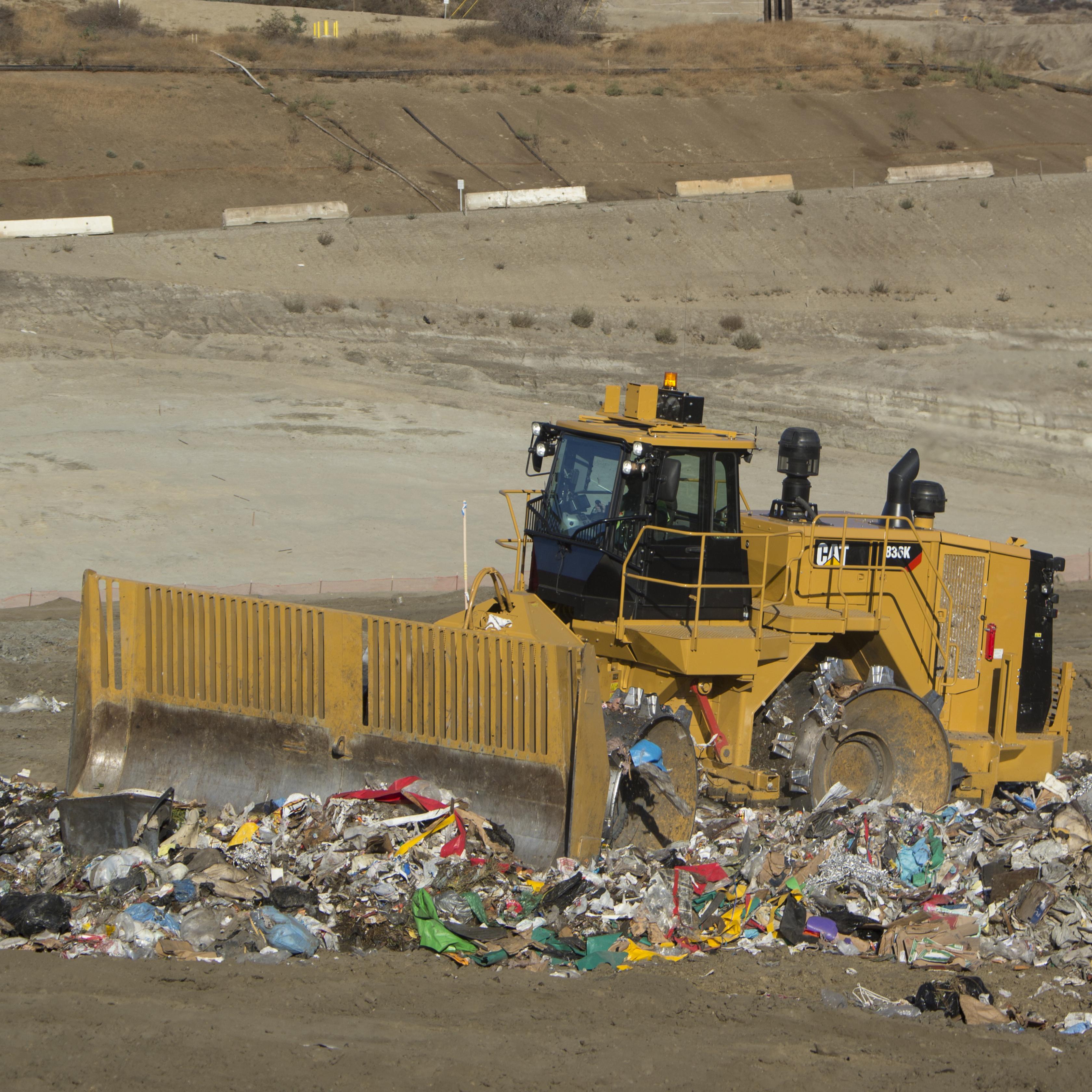 CAT 836K Landfill Compactor