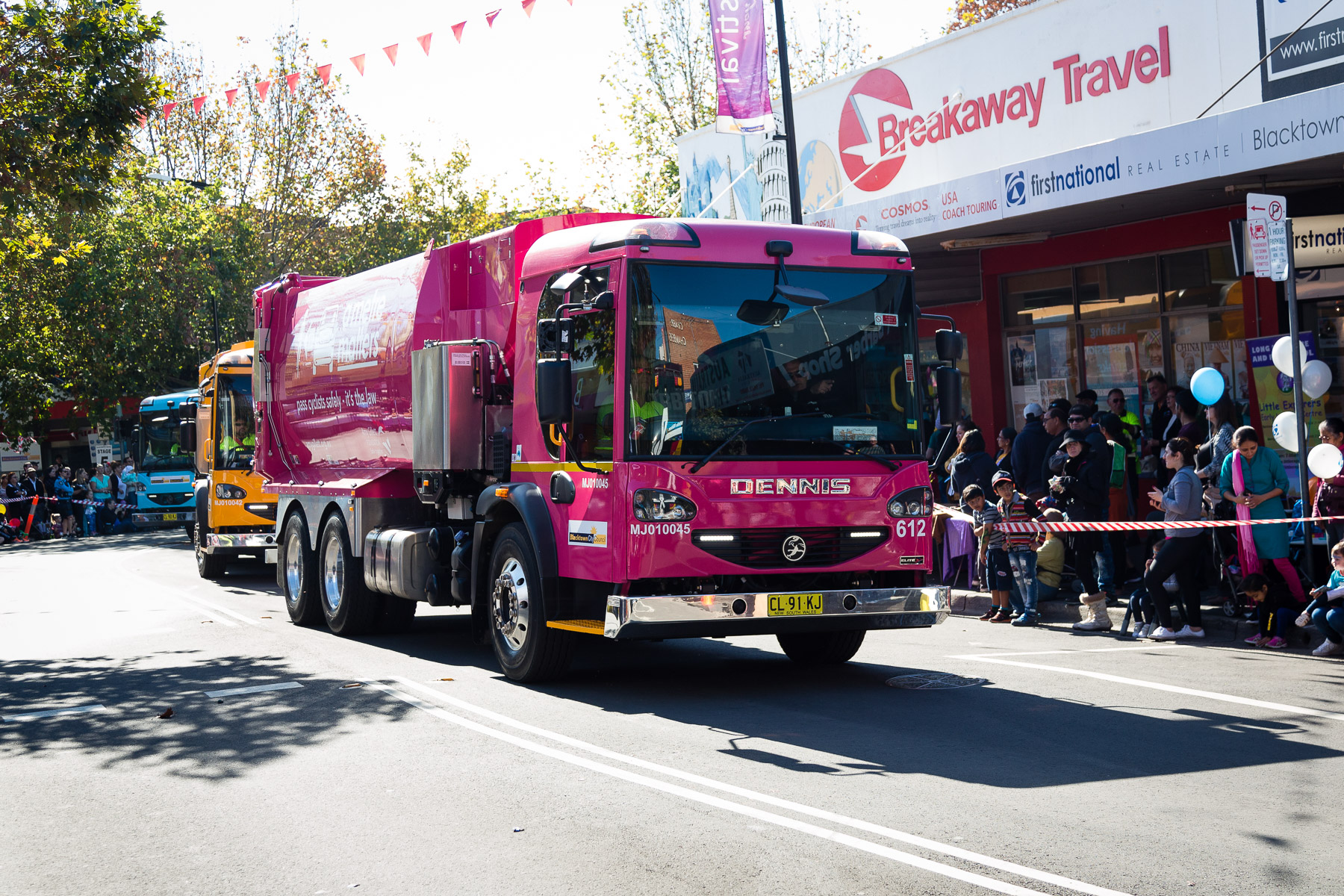Blacktown City Council parades charity trucks