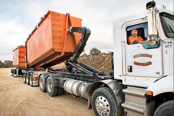 Moving waste at a faster rate