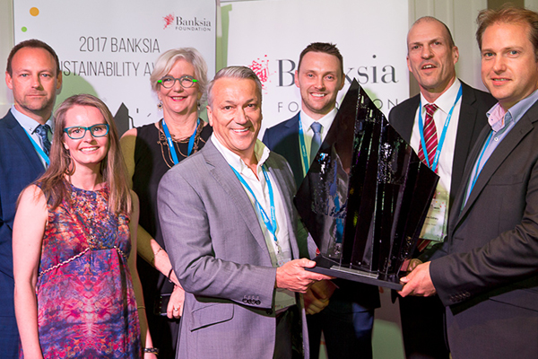 Yarra Valley Water wins Banksia Sustainability Award