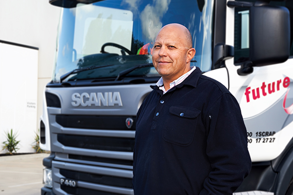 Scania's P 440s help Future Recycling expand