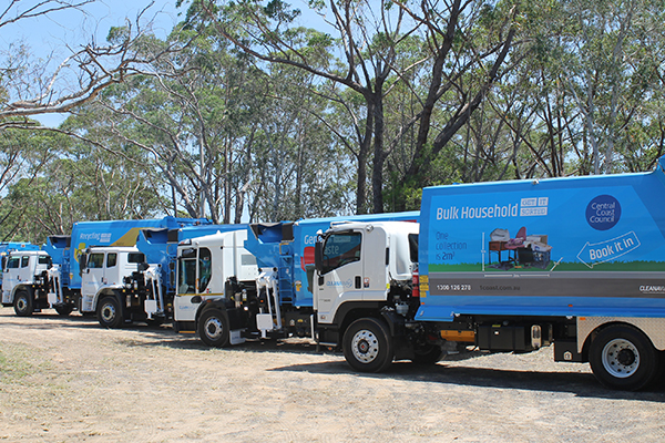Cleanaway's new fleet arrives on the Central Coast