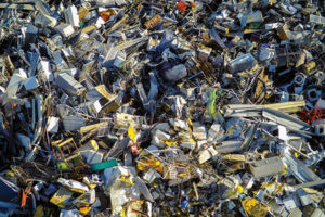 A drone image of cyclone waste in Rockhampton captured by CQG Consulting.