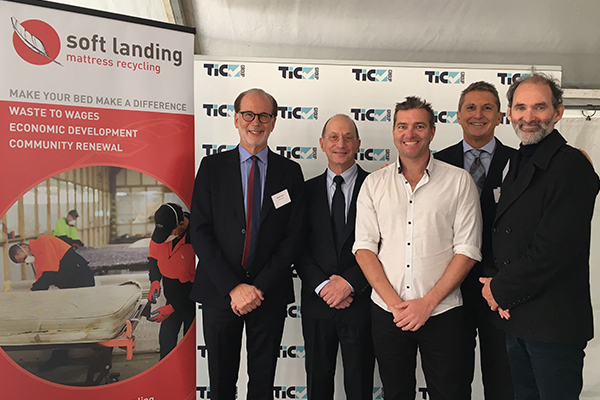 TIC Mattress Recycling passes the baton to Soft Landing
