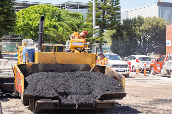 The City of Fremantle has used recycled glass equivalent to around 2640 glass bottles to resurface the car park at the North Fremantle Post Office.