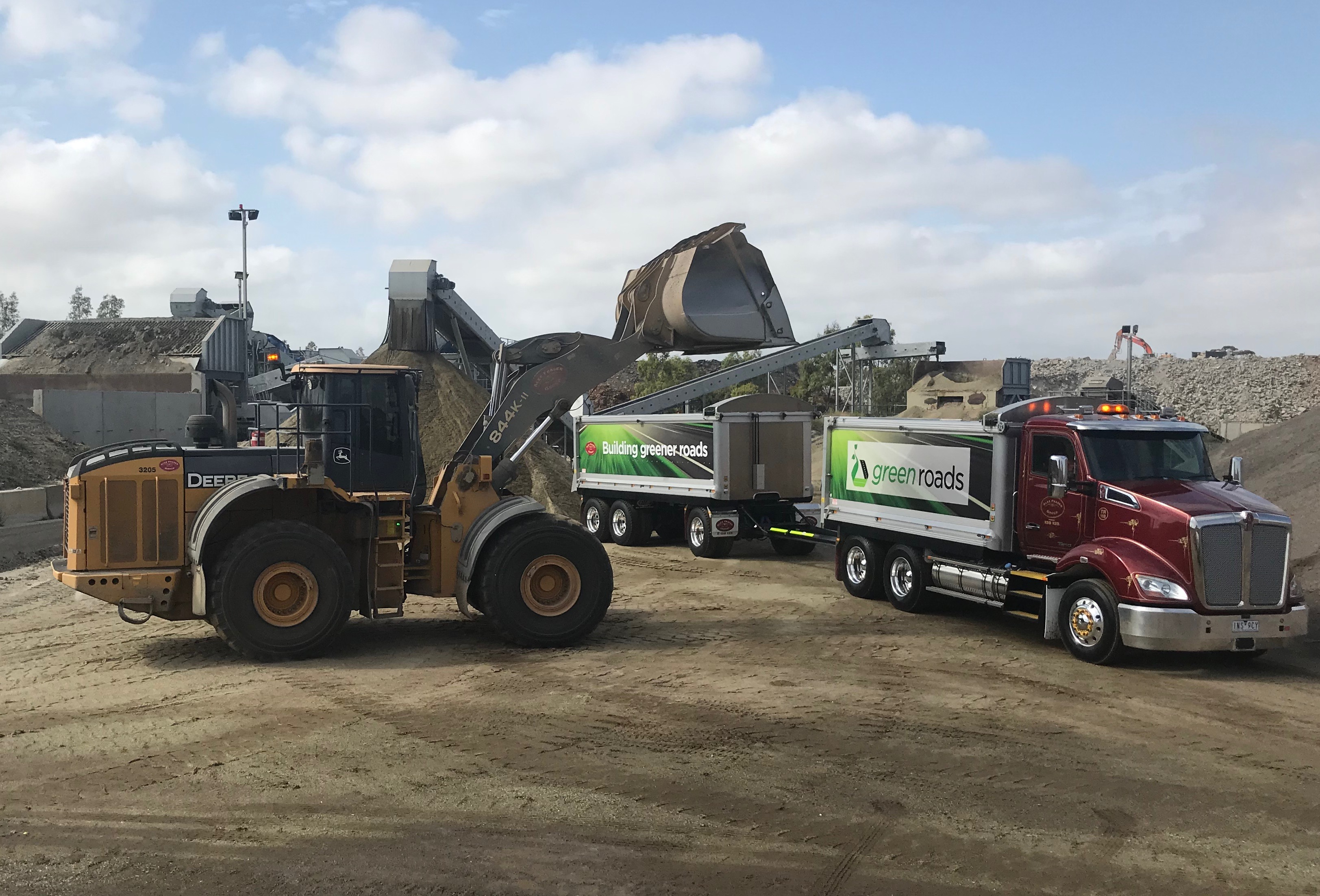 Alex Fraser's new glass recycling plant
