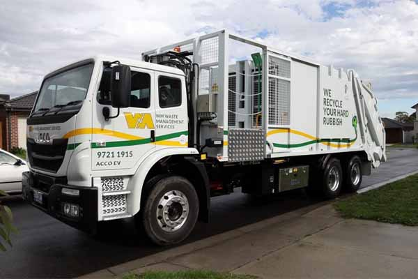 WM Waste Management introduces electric waste trucks