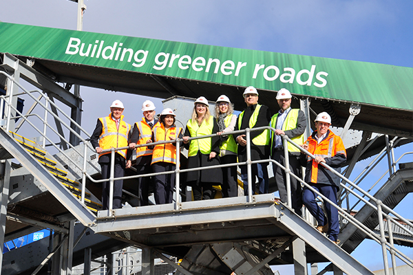 Alex Fraser opens high recycled technology asphalt plant