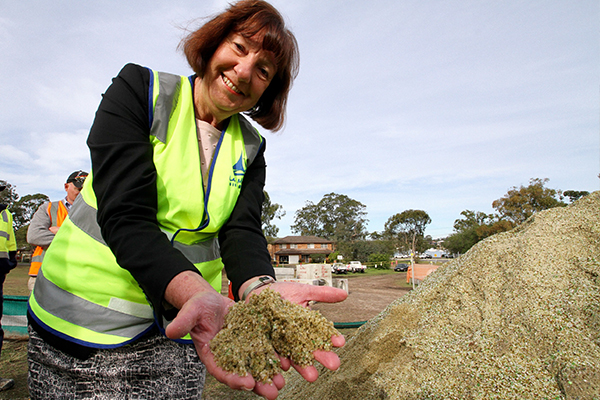 Lake Macquarie City Council's glass sand and plastic footpath trial