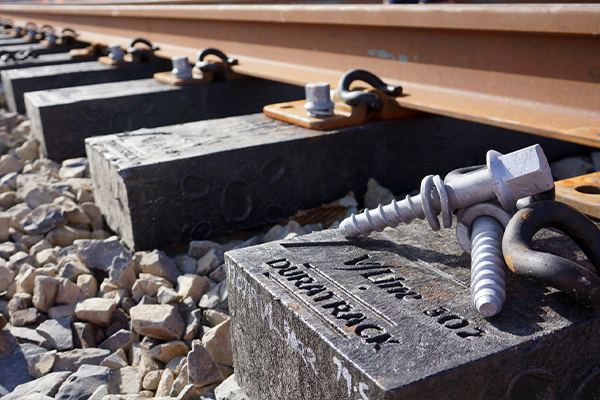 V/Line installs recycled plastic sleepers