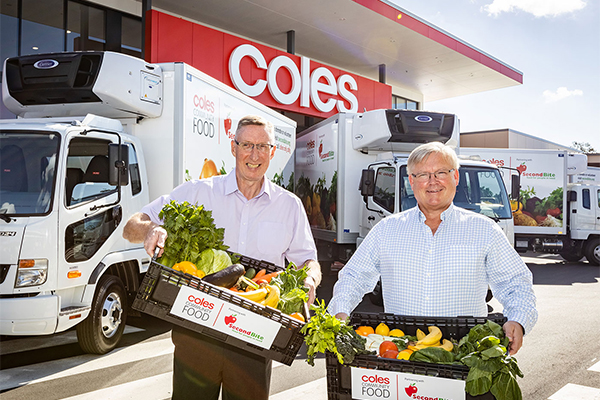 Coles donates unsold food waste