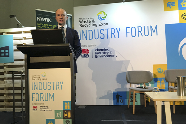 Matt Kean addresses industry at AWRE