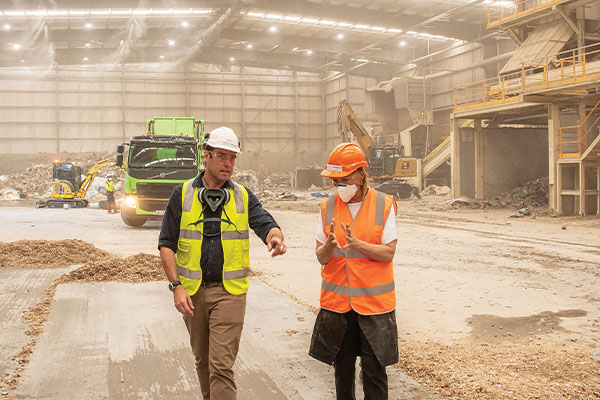 Sussan Ley tours Wetherill Park PEF facility