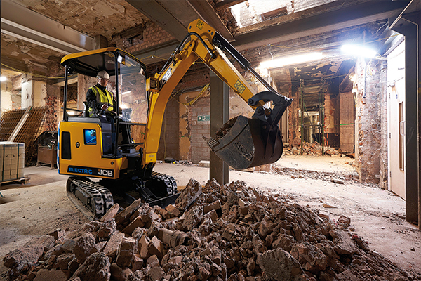 JCB delivers its first-ever electric excavator