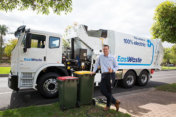 East Waste introduces SA's first electric-powered collection truck