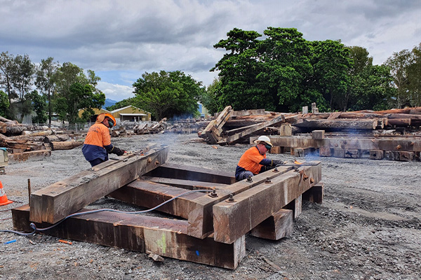 Historic Cairns Wharf timber to be recycled