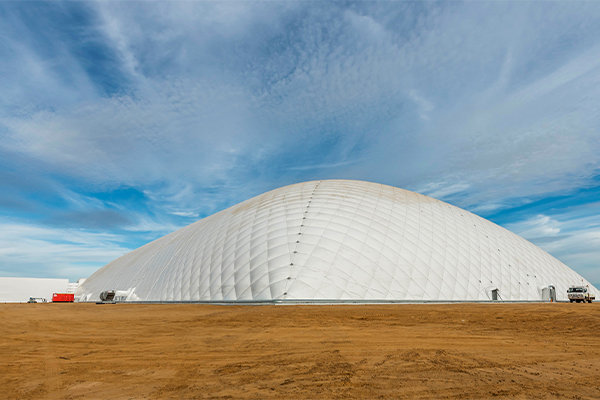 One of the world's largest air dome structures built in WA