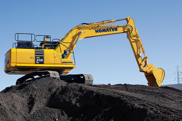 Komatsu's high-powered hydraulic excavator
