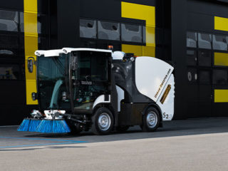 Garwood International's 100 per cent Electric Compact Sweeper