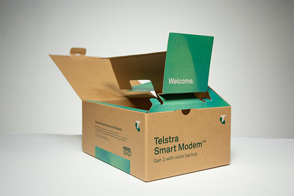 Telstra commits to renewable and recycled packaging