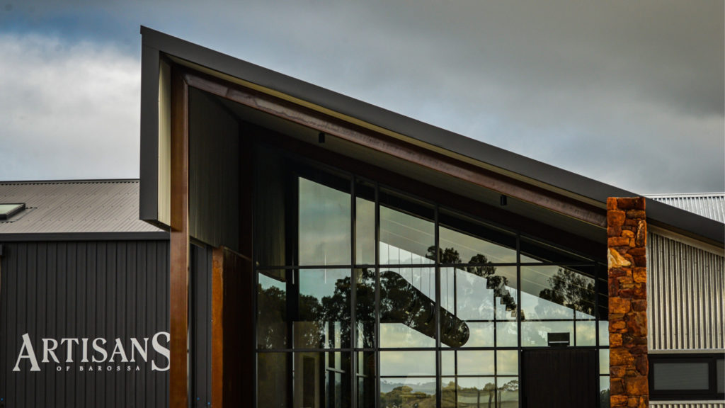 Signature Barossan build sees Ahrens create building blocks out of repurposed materials