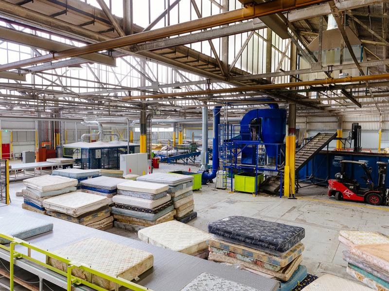 The TIC Mattress Recycling Plant, Tottenham, VIC