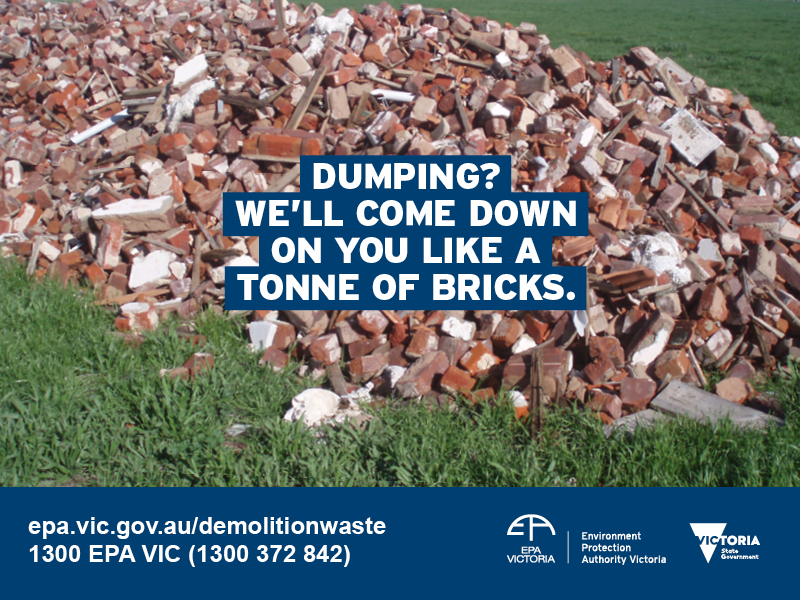 EPA Victoria campaign targets illegal dumping of C&D waste