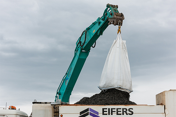 27 tonnes of recycled rubber used on race track