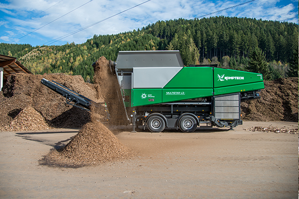 ELB Equipment's Komptech equipment supports MSW composting