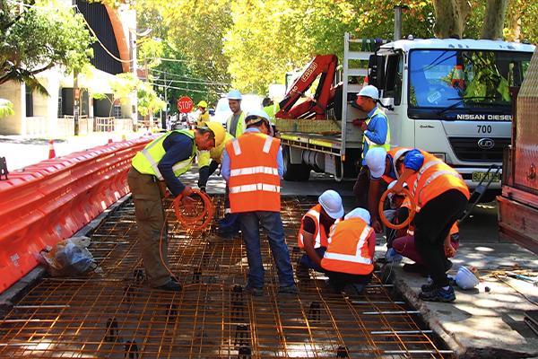 Geopolymer concrete laid in Sydney