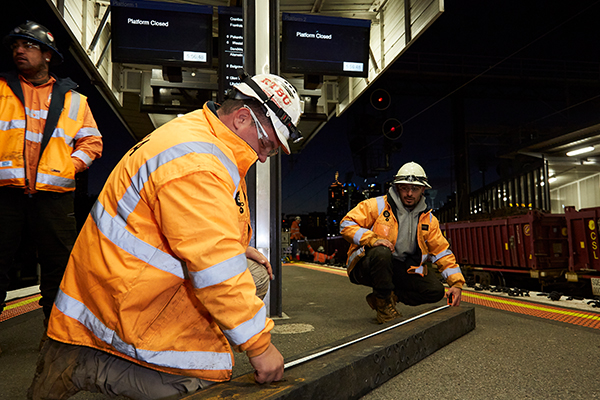 Recycled plastic sleepers trial at Melbourne's Richmond station